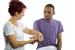 Hand Massage Royalty Free Stock Photos