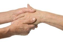 Hand massagen royaltyfri foto