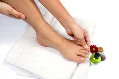 Free Hand Massaging Toes Stock Photo - 1974220