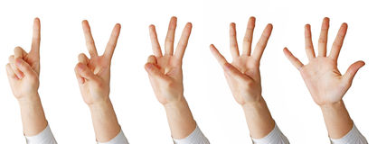 Hand math Royalty Free Stock Photo