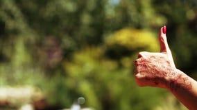 Hand with Mechendi stock video