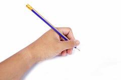Hand med en blyertspenna arkivfoton
