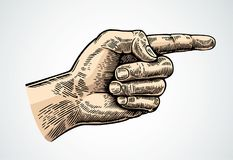 Hand med ett fördjupat pekfinger vektor illustrationer