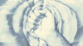 Hand med hem- tangent Royaltyfria Foton