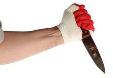 Hand med kniven Royaltyfria Foton