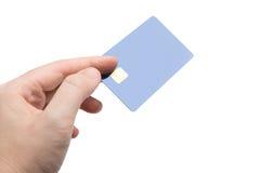 Hand med kreditkorten royaltyfri bild