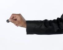 Hand med myntvaluta Royaltyfri Fotografi