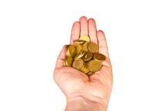 Hand med pengar Arkivbilder