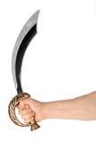 Hand med sabeln royaltyfria foton