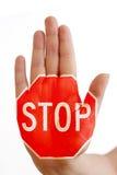 Hand med stopptecknet Royaltyfri Bild