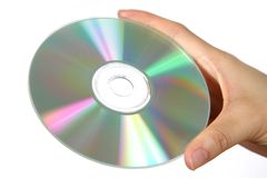Hand with media disc Stock Image