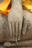 Hand/meditation. The Buddha statue posture meditation royalty free stock photos