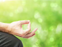 Hand in meditation Royalty Free Stock Photo