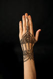 Hand with mehendi Royalty Free Stock Images