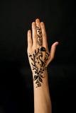 Hand with mehendi Royalty Free Stock Photos