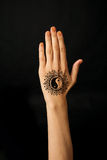 Hand with mehendi Royalty Free Stock Photos