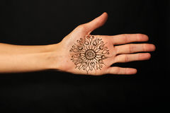 Hand with mehendi Royalty Free Stock Image