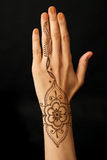 Hand with mehendi Stock Photography