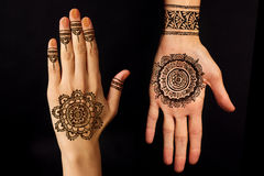 Hand with mehendi Stock Image