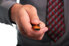 Hand with memory stick Royalty Free Stock Photos