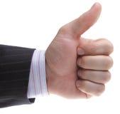 Hand men, a businessman. OK Left Handed Stock Photos