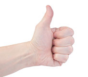 Hand of men with thumb up Royalty Free Stock Image