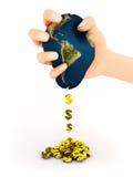 Hand met aarde Royalty-vrije Stock Afbeeldingen