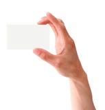 Hand met adreskaartje Royalty-vrije Stock Foto's