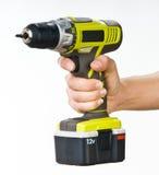 Hand met batterijschroevedraaier Royalty-vrije Stock Afbeelding