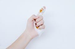 Hand met bloed Royalty-vrije Stock Fotografie