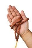 Hand met Boeddhistische rozentuin Royalty-vrije Stock Afbeelding