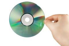 Hand met CD Stock Foto's