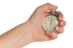 Hand met chronometer Stock Afbeelding