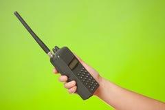 Hand met de walkie-talkie royalty-vrije stock foto's