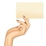 Hand met een kaart Royalty-vrije Stock Afbeelding