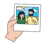 Hand met foto royalty-vrije illustratie