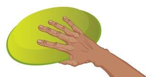 Hand met Frisbee royalty-vrije illustratie