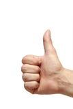Hand met gebaar Nr 1 Stock Foto
