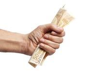 Hand met geld Royalty-vrije Stock Fotografie