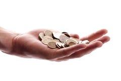 Hand met geld Stock Foto