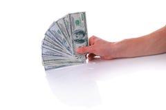 Hand met geld Royalty-vrije Stock Foto