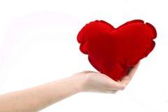 Hand met hart Stock Afbeeldingen
