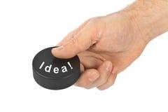 Hand met het Idee van de hockeypuck royalty-vrije stock foto