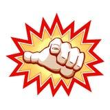 Hand met het richten van vinger Stock Illustratie