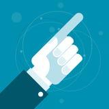 Hand met het richten van wijsvinger Stock Afbeeldingen