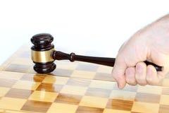 Hand met het symbool van de strategiewet Stock Afbeeldingen