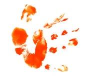 Hand met inkt stock foto