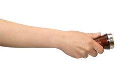Hand met kleine toorts Royalty-vrije Stock Afbeeldingen