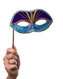Hand met masker Stock Fotografie