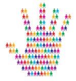 Hand met mensenachtergrond Royalty-vrije Stock Foto